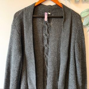 💖 Dark Gray Francesca's Knitted Cardigan